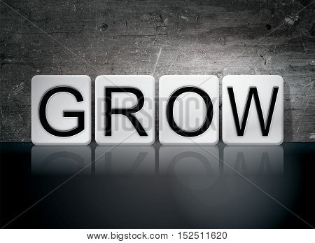 Grow Tiled Letters Concept And Theme