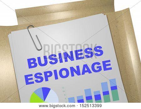 Business Espionage Concept