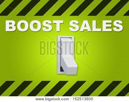 Boost Sales Concept