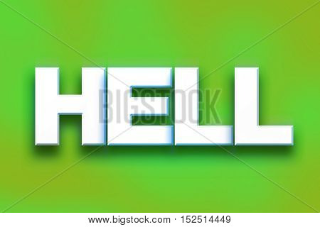 Hell Concept Colorful Word Art