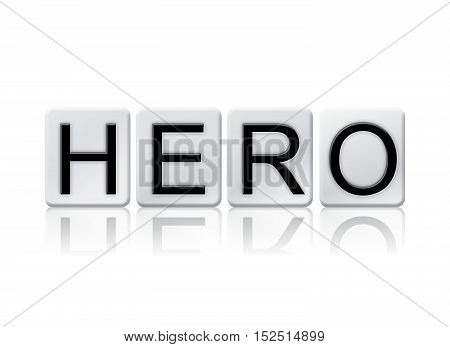 Hero Isolated Tiled Letters Concept And Theme