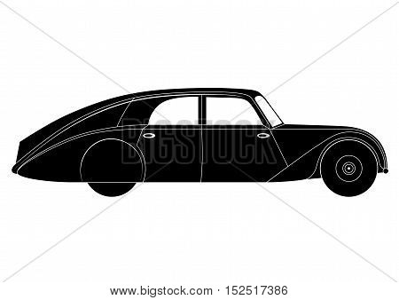 Illustration of the sedan - vintage model of car