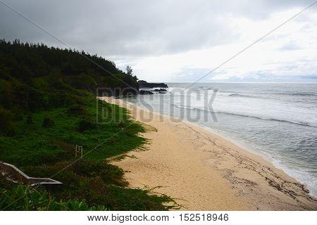 Gris-Gris beach in village Souillac, island of Mauritius.
