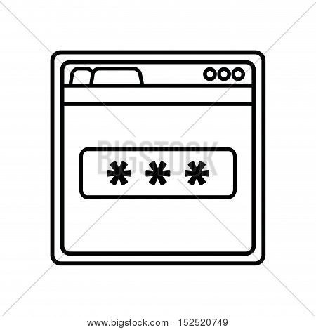 login access template isolated icon vector illustration design
