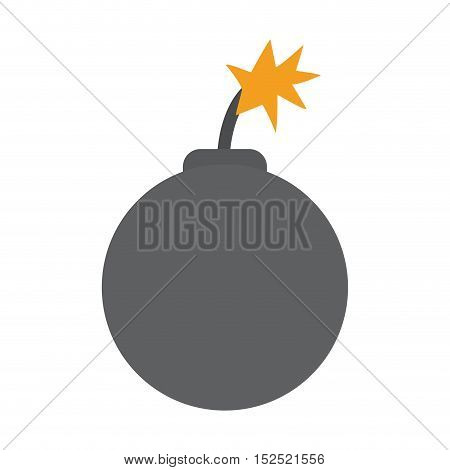 boom danger isolated icon vector illustration design