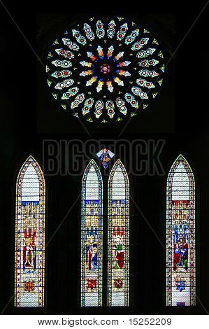 Stained Glass windows.