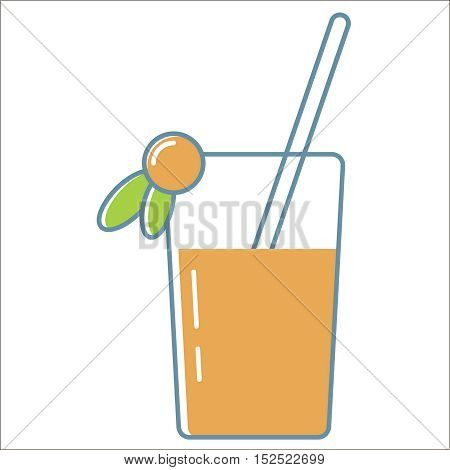 Juice line icon. Thin line vector Juice line icon peefect for web and mobile applications, can be used as logo, pictogram, icon, infographic element. Vector Illustration.