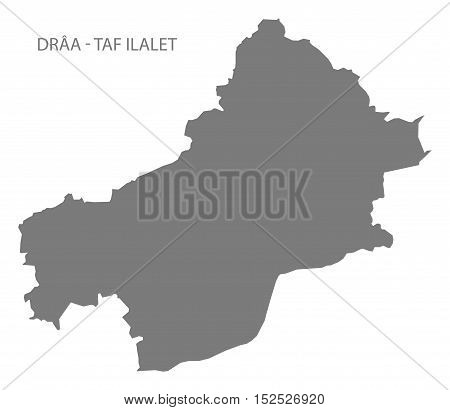 Draa - Taf Ilalet Morocco Map grey illustration high res