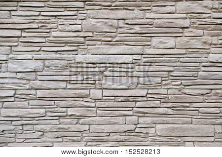 Stone Wall Or Construction Material For Fence.