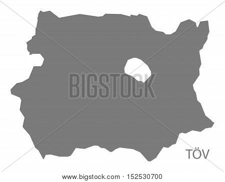 Tov Mongolia Map grey illustration high res
