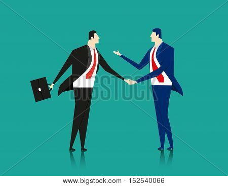 Business Cooperation. Concept business illustration. Vector flat