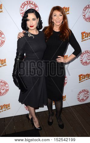 LOS ANGELES - OCT 17:  Dita Von Teese, Cassandra Peterson at the