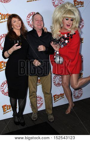 LOS ANGELES - OCT 17:  Cassandra Peterson, Fred Schneider, Lady Bunny at the