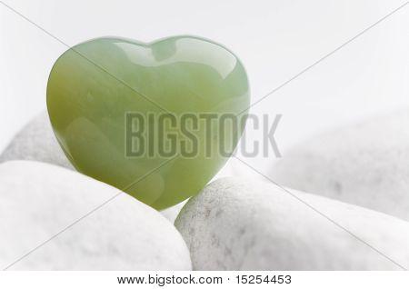 Green Quartz Heart
