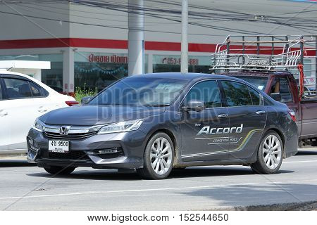 CHIANGMAI THAILAND - OCTOBER 6 2016: Private car Honda accord. On road no.1001 8 km from Chiangmai Business Area.