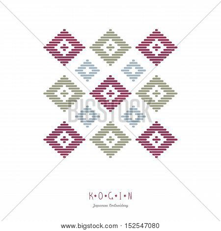 Text Frame. Abstract. Japanese Kogin Embroidery.