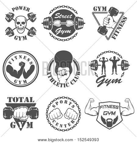 Vintage Weight Lifting Label and Sticker. Gym logotyp