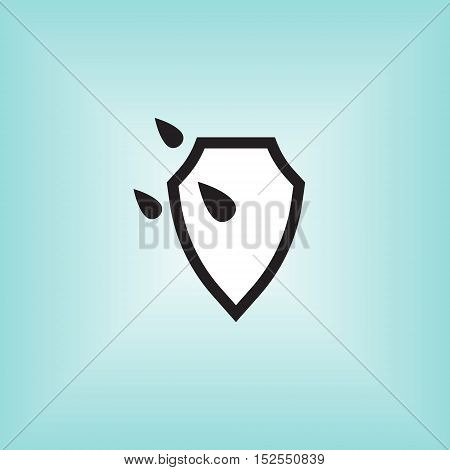 Waterproof vector icon. Isolated waterproof vector sign. Water proof vector logo.