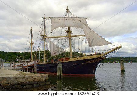 1800s Antique Vessel  A Retro Vintage classic and antique  ship