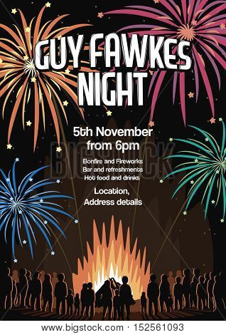 Guy Fawkes Night Flyer Vector Illustration Poster