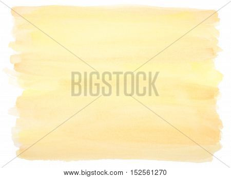 yellow watercolor background with visible brushstrokes and frayed edges
