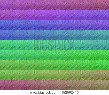 Macro from textile color swatch in cotton