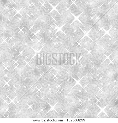 Sparkling white surface background with stars image
