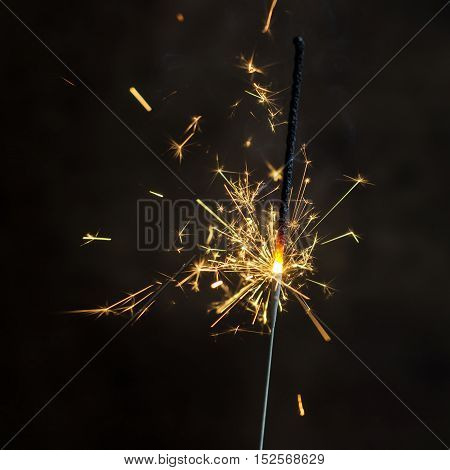 Christmas and newyear party sparkler on dark background