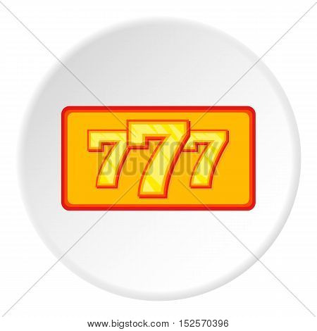 Lucky seven icon. Flat illustration of lucky seven vector icon for web