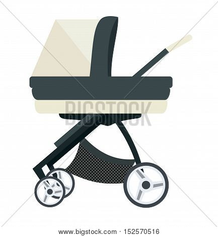 Baby carriage. Illustration on a white background. Transport for Newborns