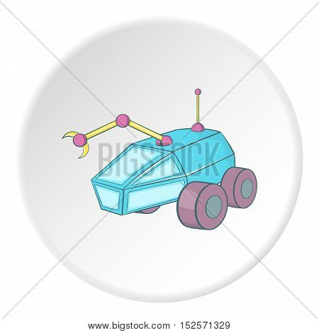 Moon rover icon. Cartoon illustration of moon rover icon for web