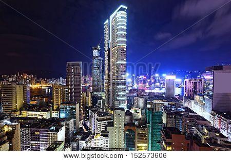 Hong Kong Modern City Night
