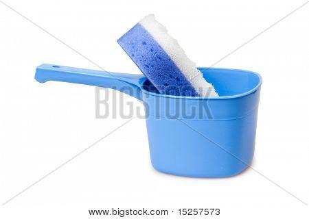 plastic scoop with bath whisp