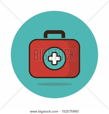 First aid kit flat icon. Medical vector eps 10