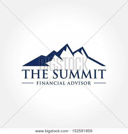 Mountain Themed Symbol, Summit, Peak, Outdoor concept logo