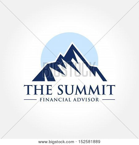 Mountain Themed Symbol, Summit, Peak, Outdoor concept logo
