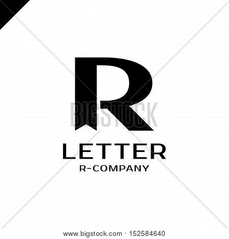 Bookmark Royal Logo Vector Template. Hotel, Kings Symbol, Top Hotel, Letter R, Premium R Brand Bouti