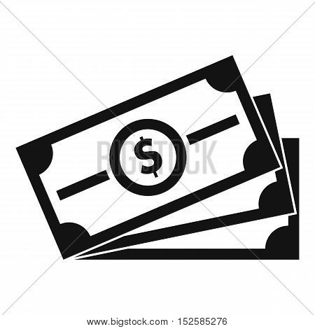 Stack of dollar bills icon. Simple illustration of stack of dollar bills vector icon for web