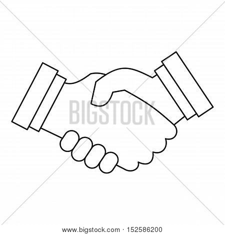 Contract agreement icon. Outline illustration of contract agreement vector icon for web