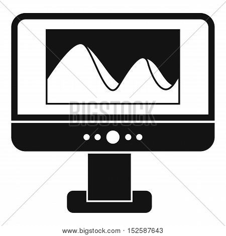 Computer monitor with photo on the screen icon. Simple illustration of computer monitor vector icon for web