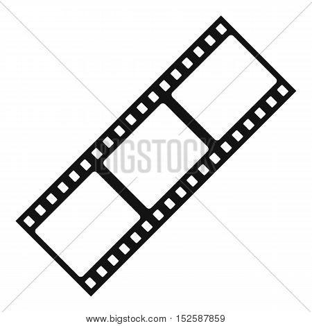 Film strip icon. Simple illustration of film strip vector icon for web