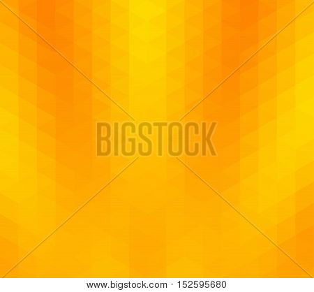 Yellow and orange color geometric rumpled background. Low poly style gradient illustration. Graphic background.