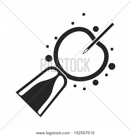 Artificial insemination icon in black style isolated on white background. Pregnancy symbol vector illustration.