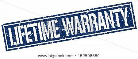 lifetime warranty. stamp. square grunge vintage isolated. sign