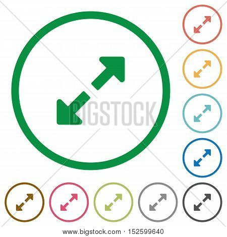 Resize full flat color icons in round outlines