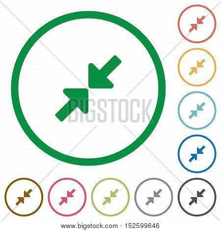 Resize small flat color icons in round outlines