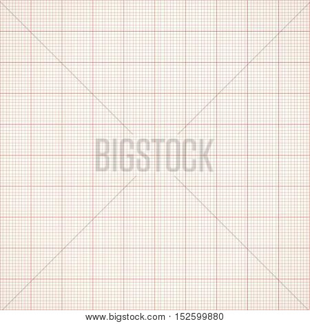 Seamless millimeter grid. Graph paper. Vector engineering paper dark black and yellow color