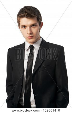 young business man on a white background