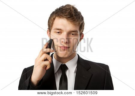 Man with a telephone in a hand