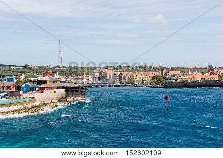 The Curacao Harbor and a Pontoon Bridge